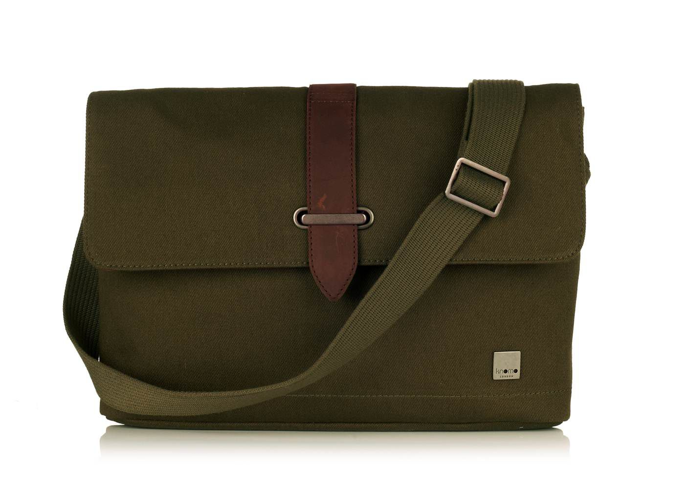 Troon olive green cross body messenger bag