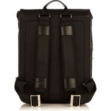 Hudson black leather city backpack