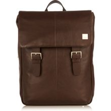 Knomo Hudson brown leather backpack