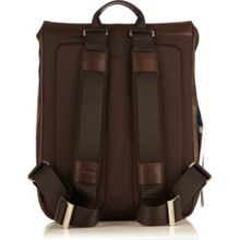 Hudson brown leather backpack