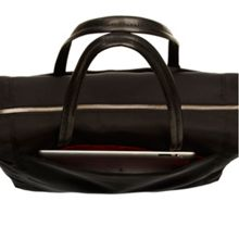 Knomo Curzon black nylon shoulder bag
