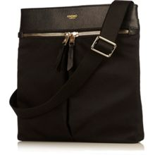 Tilney 8 black nylon cross body bag