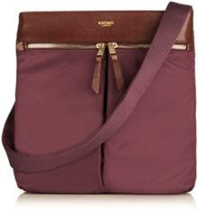 Tilney 8 purple nylon cross body bag