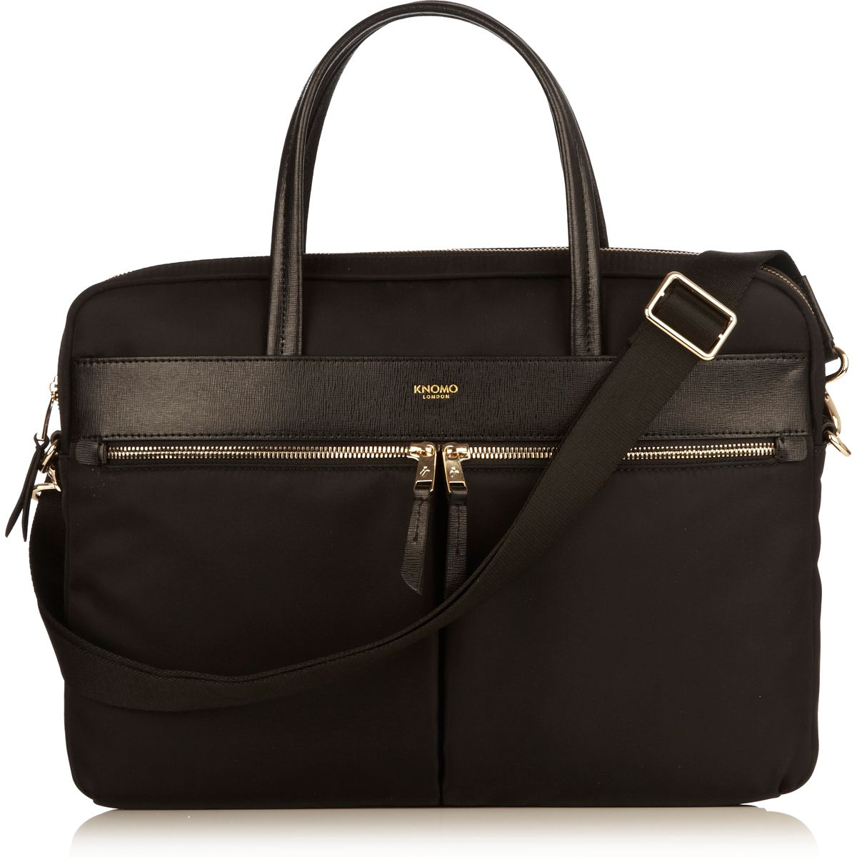 Hanover 14 Black Lightweight Briefcase