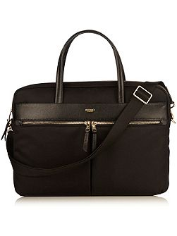 Hanover 14 slim lightweight briefcase black nylon