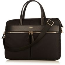 Knomo Hanover 14 slim lightweight briefcase black nylon