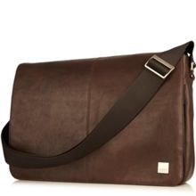 Knomo Bungo brown leather messenger bag