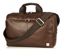 Newbury brown leather briefcase