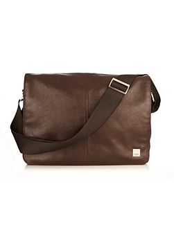 Kinsale brown leather cross body messenger bag