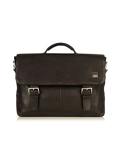 Jackson soft black leather briefcase