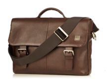 Knomo Jackson brown soft leather briefcase