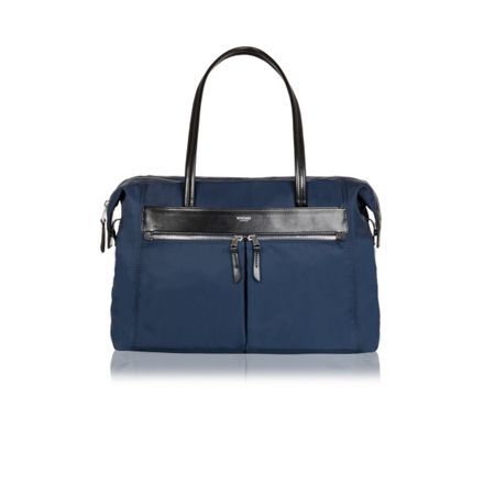 Knomo Curzon 15 navy nylon shoulder bag
