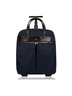 Mayfair navy nylon burlington trolley case