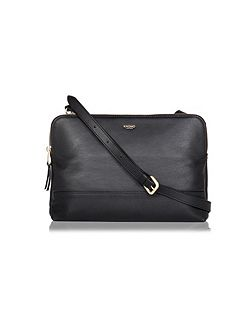 Davies 10 black leather cross body bag
