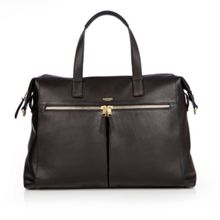 Audley 14 slim black leather tote bag
