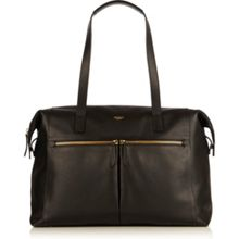 Knomo Curzon black leather shoulder tote bag