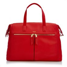 Mayfair luxe audley slim laptop briefcase red