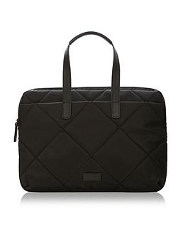Knomo Paddington talbot slim laptop briefcase black