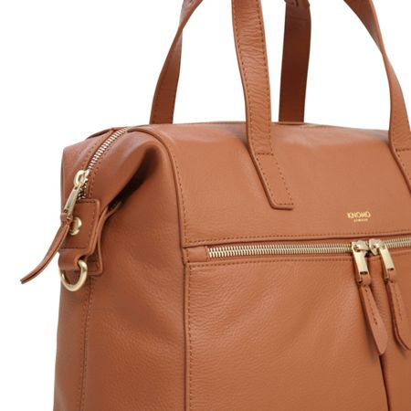 Knomo Mayfair Luxe Audley 14 Tote Caramel