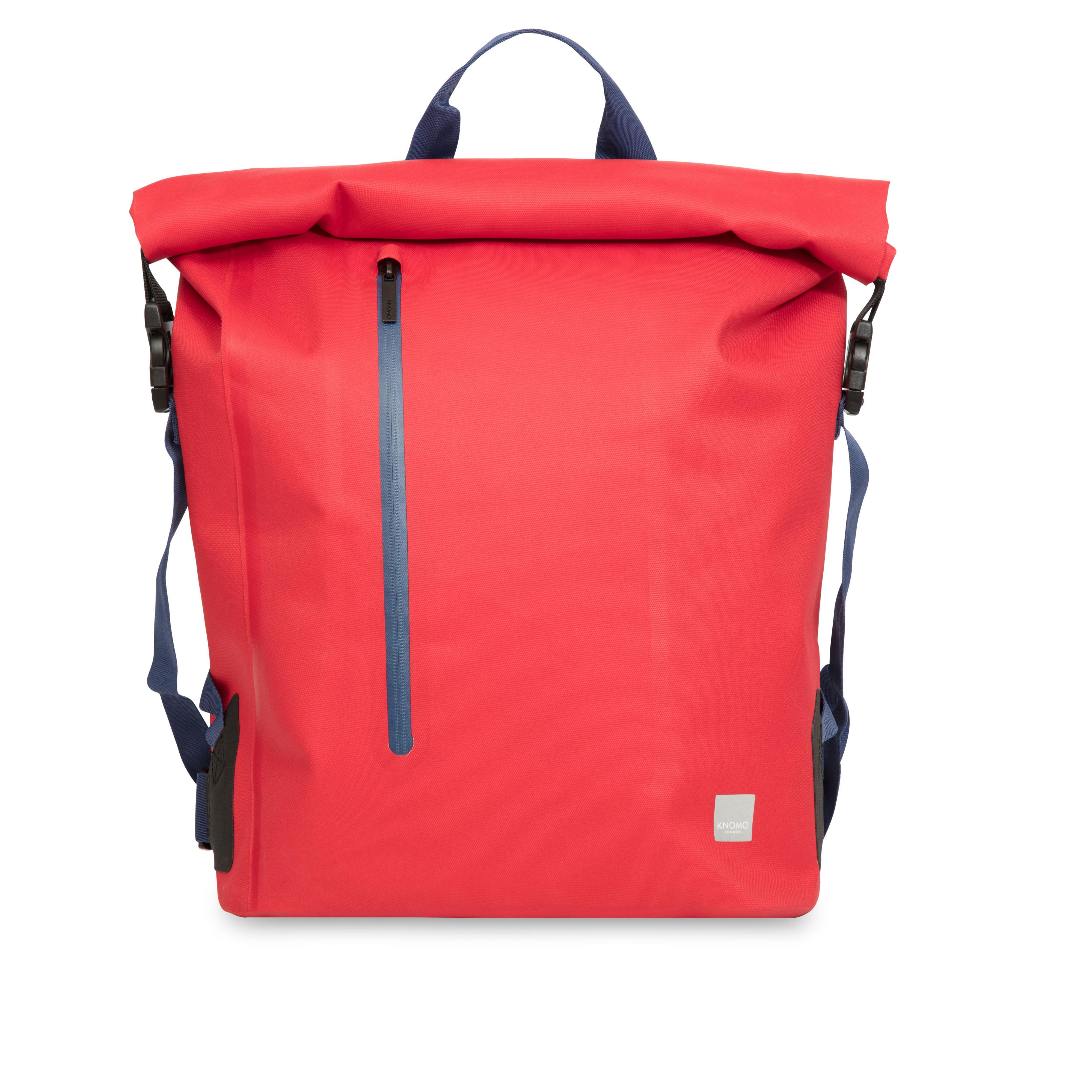 Knomo Cromwell 15 Top Zip Backpack Bag, Red