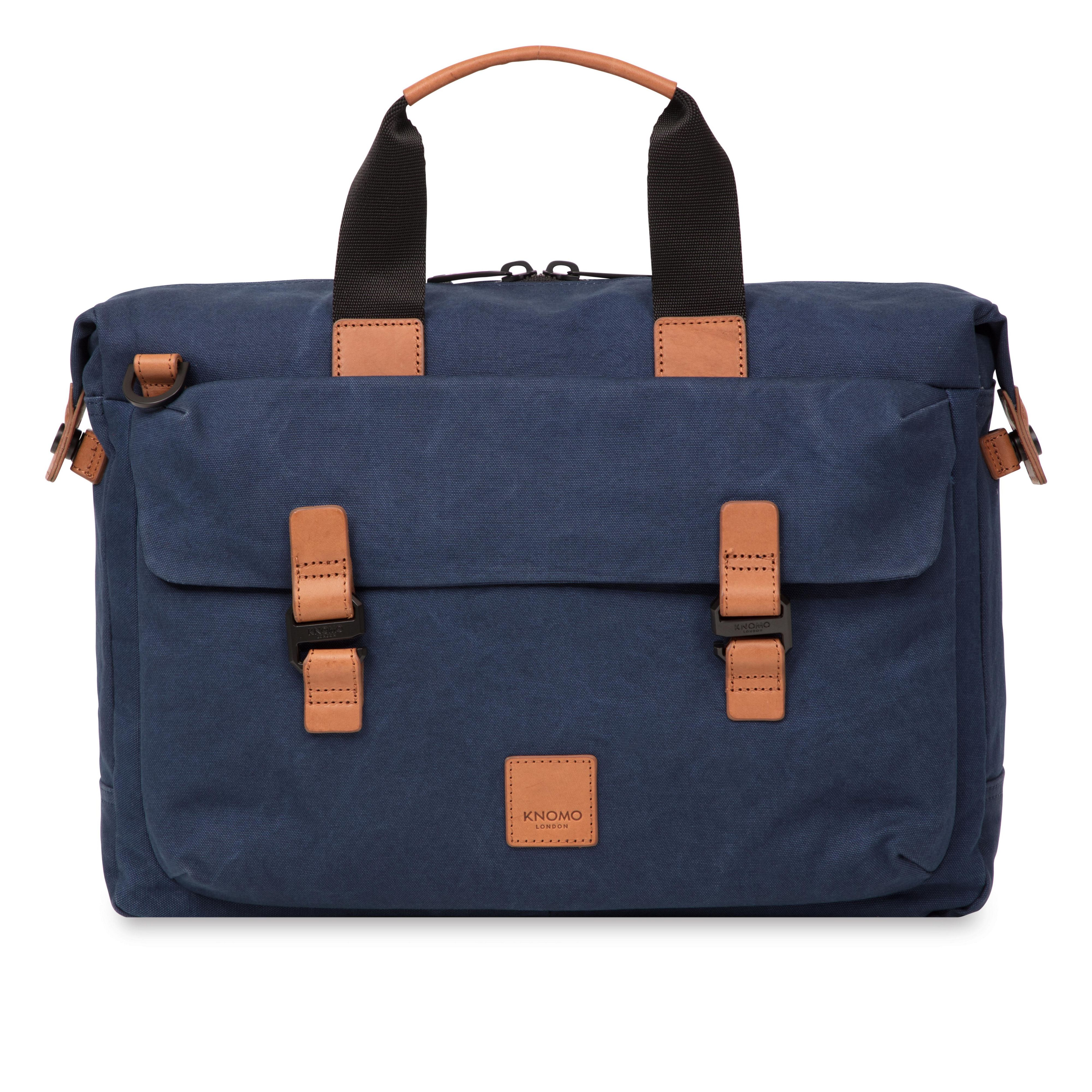 Knomo Tournay Topload Briefcase 15, Blue
