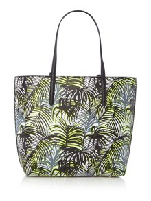 Paul's Boutique Exmouth jamie palm print medium tote bag