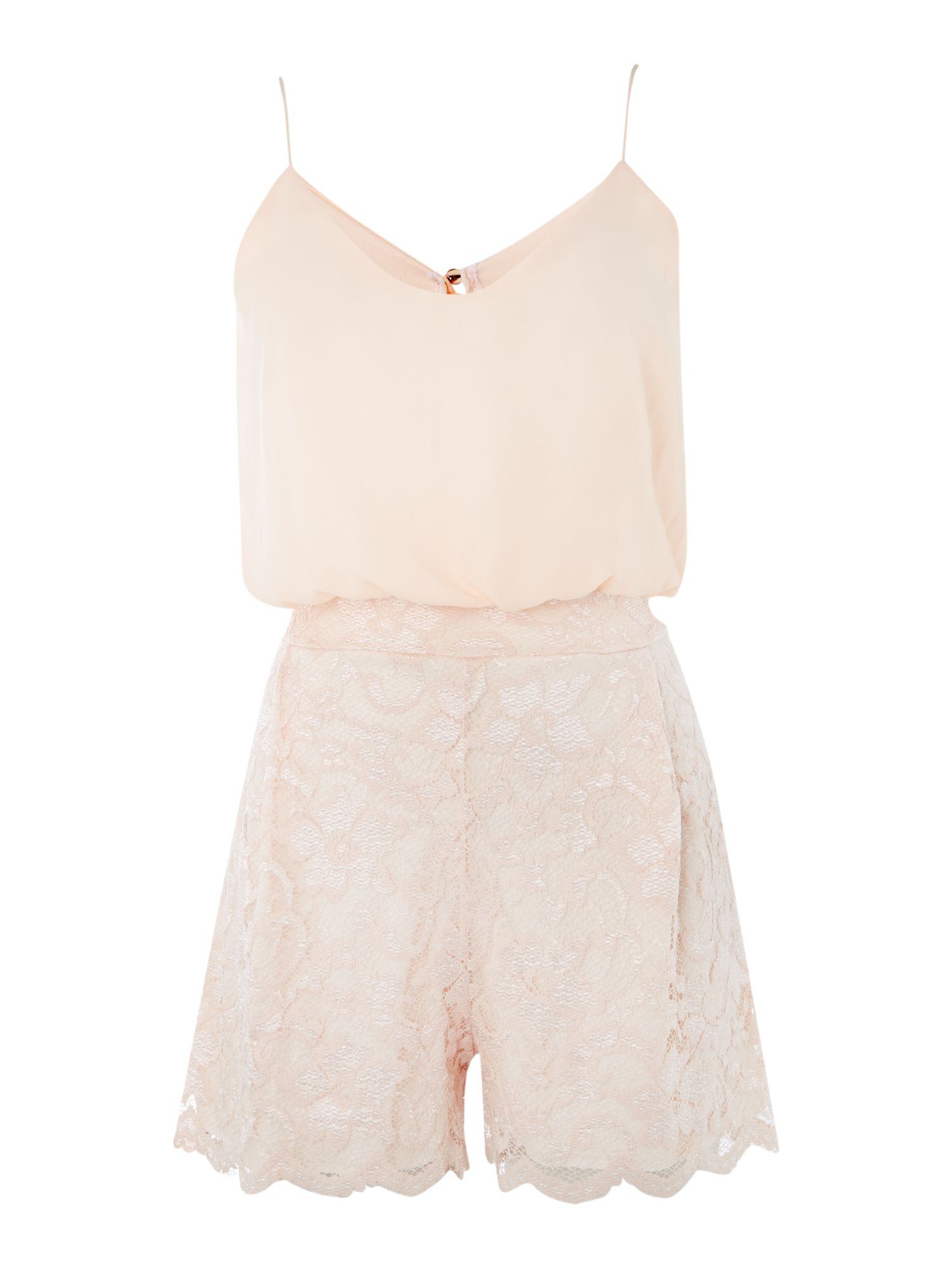Blouson cami top lace playsuit