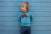 Toby Tiger Boy`s organic cotton dinosaur t-shirt