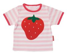 Toby Tiger Girl`s organic cotton strawberry t-shirt