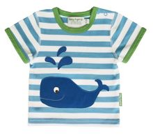 Toby Tiger Boy`s organic cotton whale t-shirt