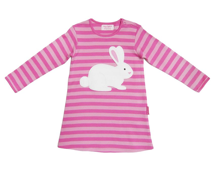 Girl`s organic cotton bunny dress