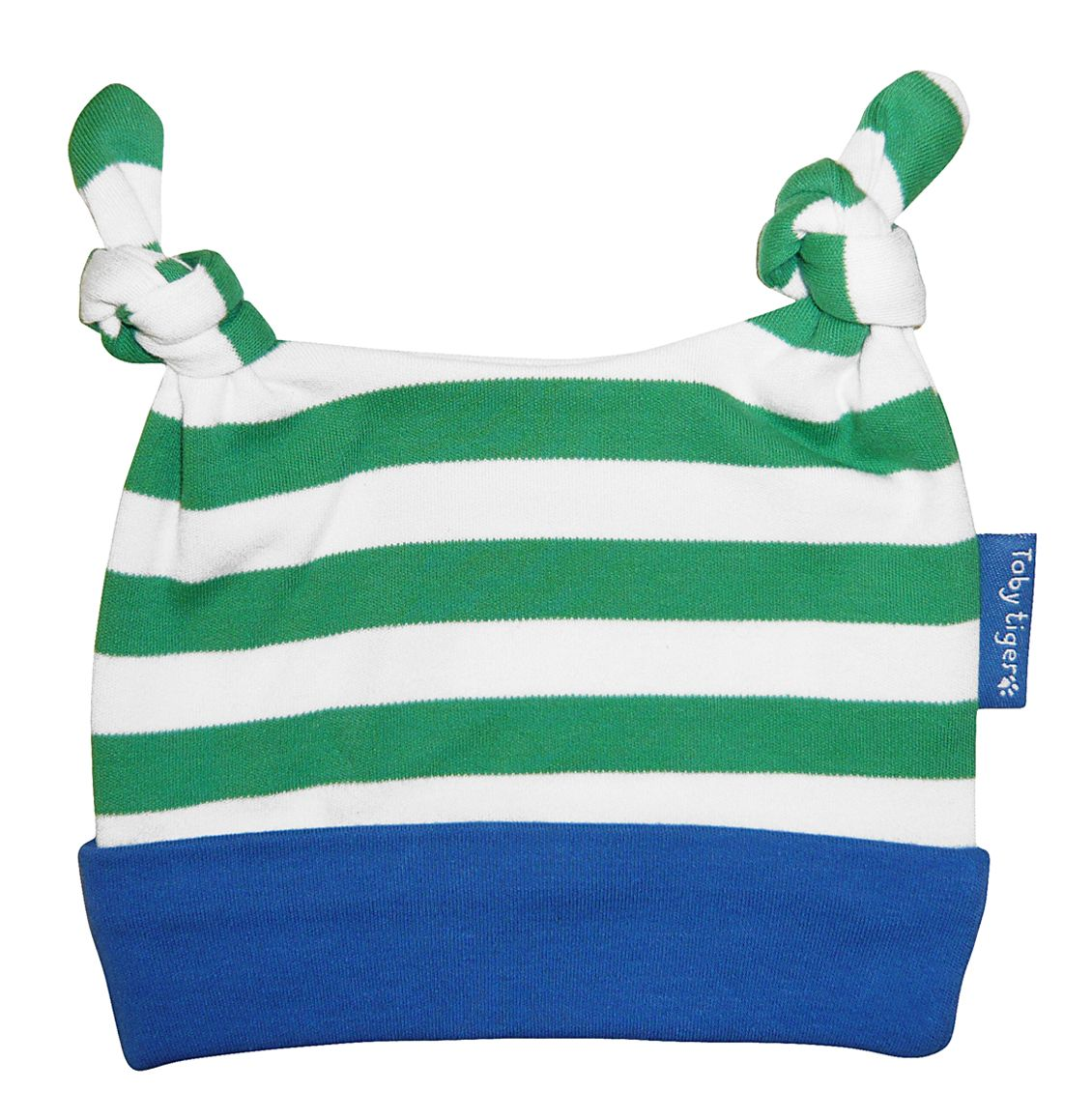 Toby Tiger Boys organic cotton knot hat, Green