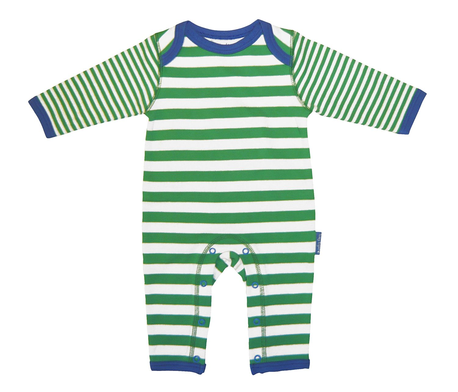 Toby Tiger Baby organic cotton sleepsuit, Green