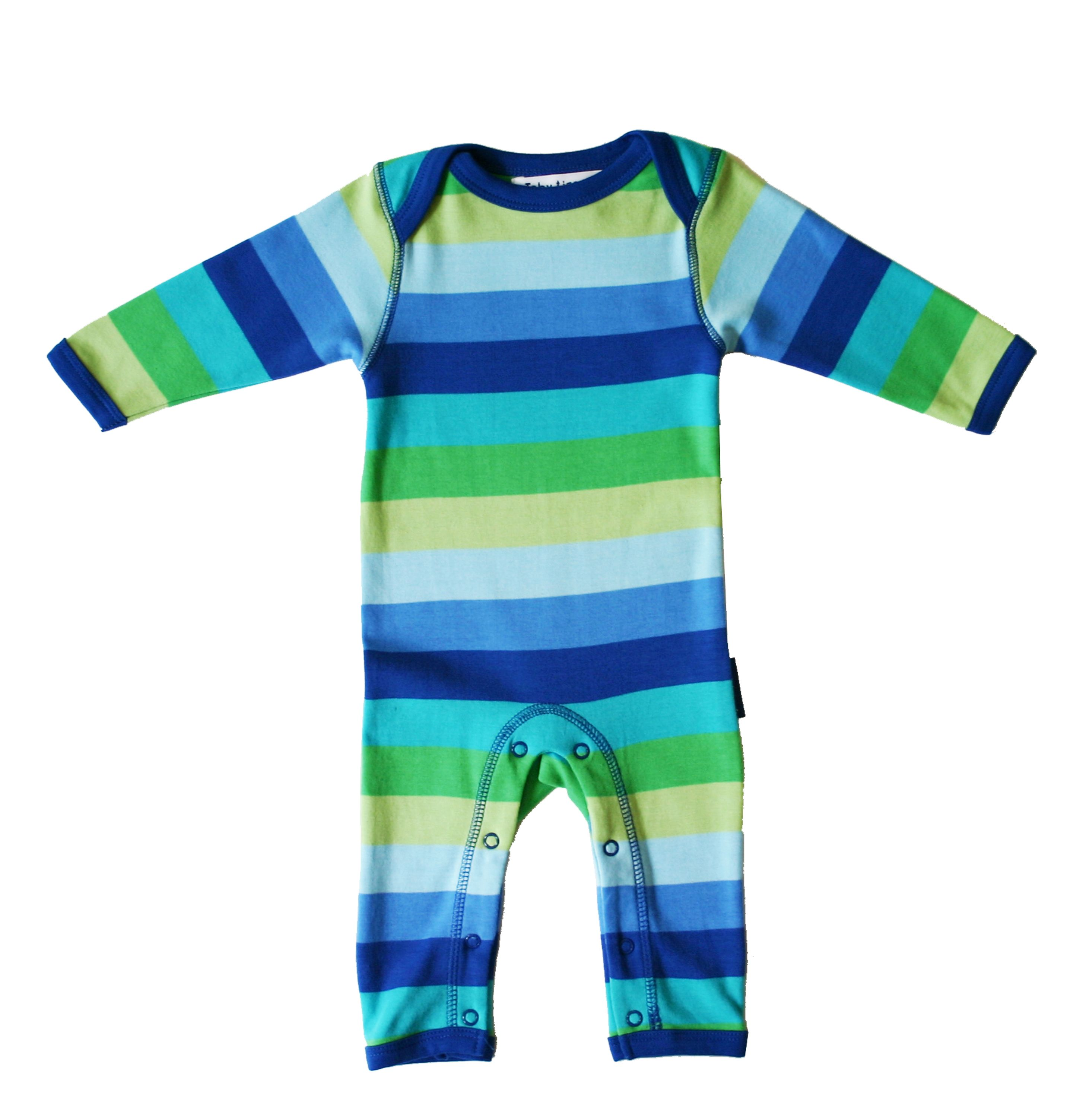 Toby Tiger Baby organic cotton blue sleepsuit, Blue