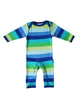 Baby organic cotton blue sleepsuit
