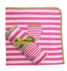 Toby Tiger Girl`s organic cotton pink blanket