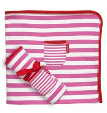 Girl`s organic cotton pink blanket