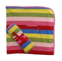 Toby Tiger Girl`s organic cotton blanket