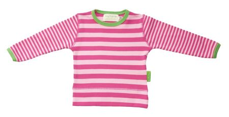 Toby Tiger Girl`s organic cotton striped t-shirt