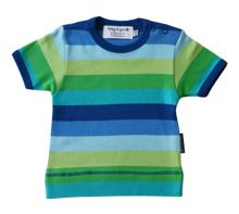 Toby Tiger Boy`s organic cotton blue t-shirt