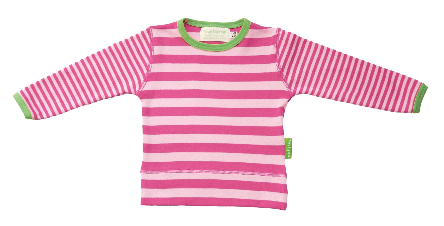 Girl`s Organic striped t-shirt