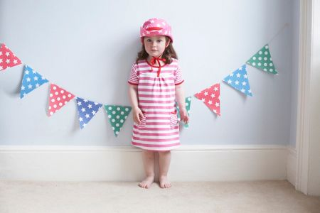 Toby Tiger Girl`s organic cotton pink t-shirt dress