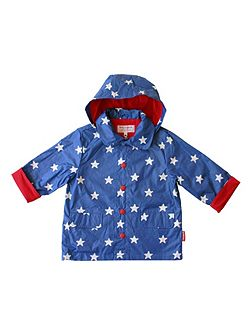 Toby Tiger Boy`s hooded raincoat