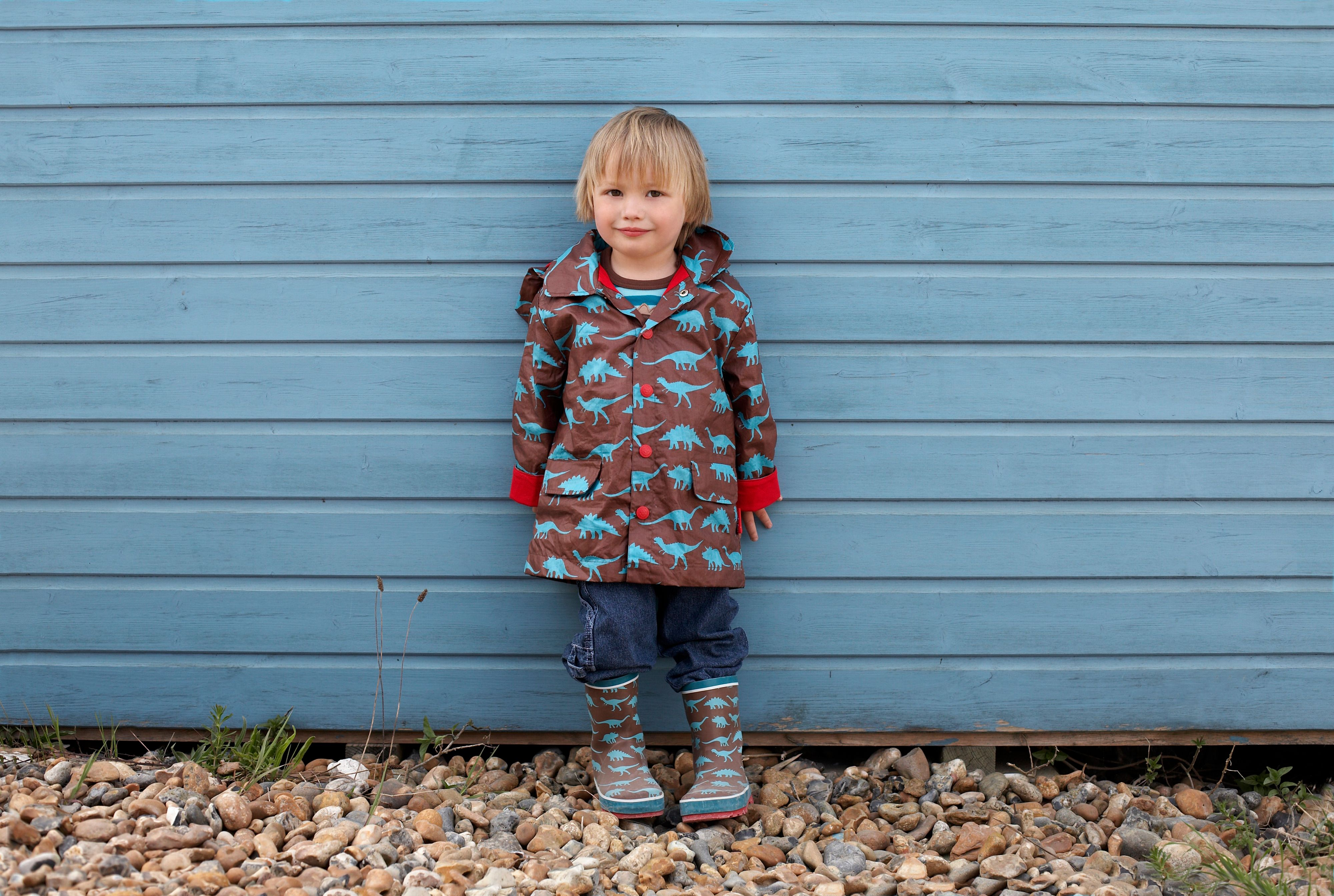 Boy`s hooded raincoat