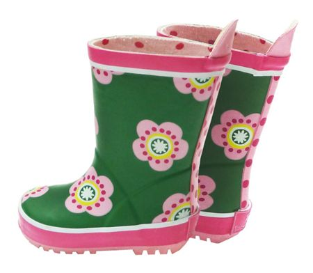 Toby Tiger Girl`s natural rubber boots