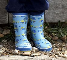 Toby Tiger Boy`s natural rubber boots