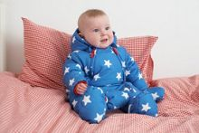 Toby Tiger Baby hooded fleece lined snowsuit