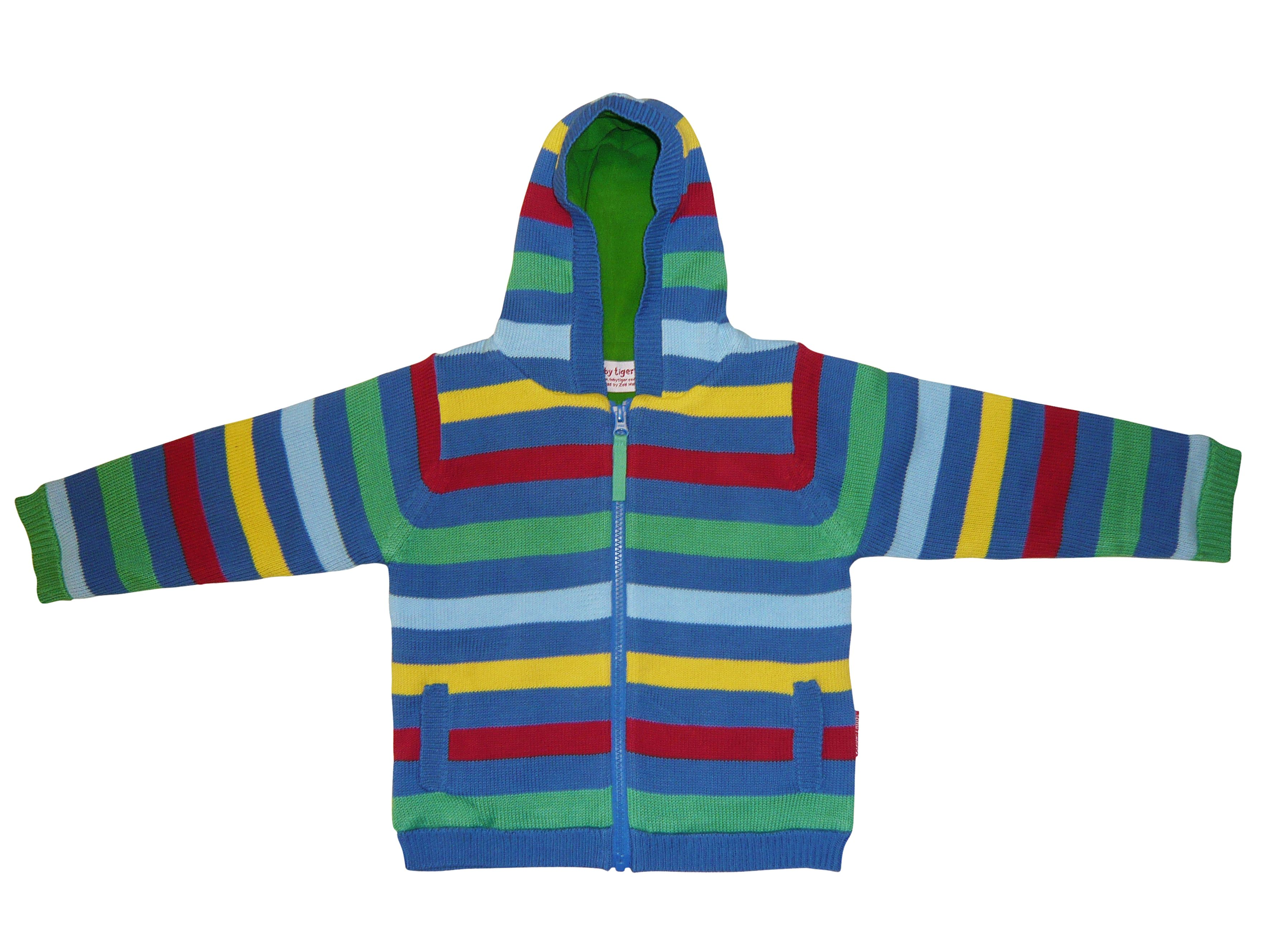 Toby Tiger Boys knitted fleece lined jacket, Blue