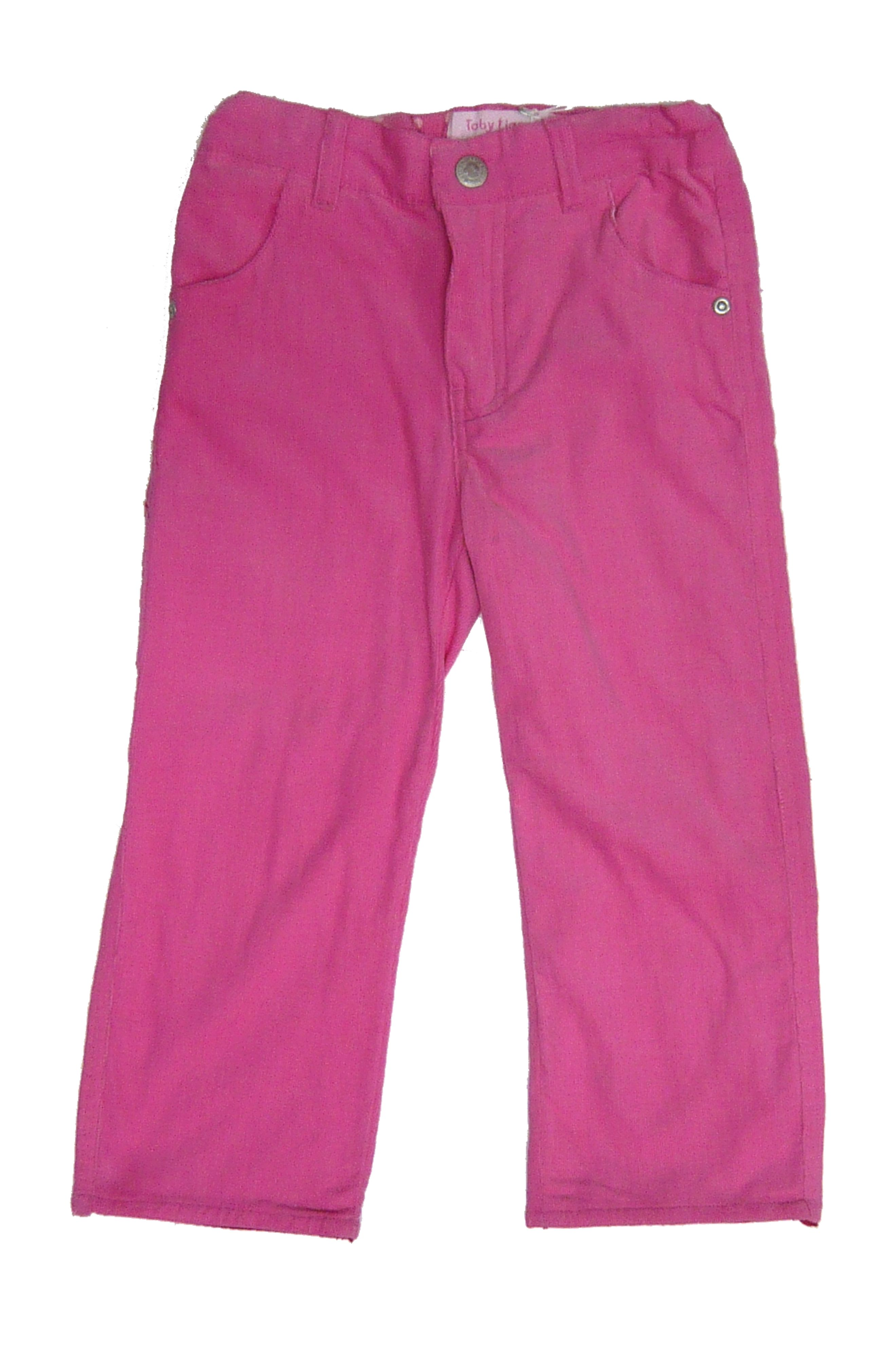 Girl`s cord pink trousers