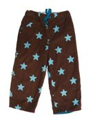 Boy`s cord trousers brown with stars